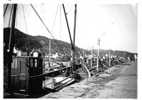 Fishing fleet at the pier, possibly pre World War II (1939)