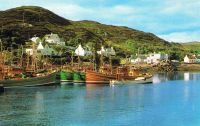 Circa mid 1970's the local fishing boats are the Misty Isle, with the Girl Ann on the outside
