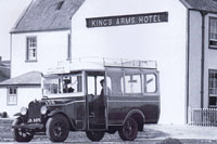 Circa 1933 - Dunvegan bus waiting at Kings Arms Hotel, Kyleakin.