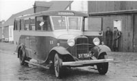 Circa 1933-34  - Bus outside Kyleakin Ferry Office
