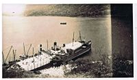 Early 1930's – The Cara Holed when she hit either a rock or the Black Island, her load of timber was discharged in Loch Na Beiste, to allow repairs to be carried out.