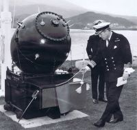24th April 1982 - The Ceremony to Commemorate the Officers and Men of HMS Trelawney and 1st Minelaying Squadron at the Lochalsh Hotel, Kyle.