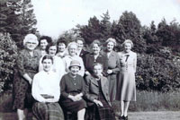 Mid 1950's Kyleakin SWRI at Dunringell for afternoon tea: