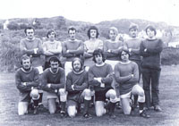 1972 - Kyleakin Football Team - the picture was taken at Douglas Park, Kyle Back row - left to right:  Donald Robertson, Jonathan MacDonald (Sleat), John Paterson, John Robertson, Hector Grant, Donald Neil MacInnes (Torrin) & Charles Reid Front row - left to right:  Donnie Paterson, Kenny MacPherson, Jim Innes (WHFP), Chris MacKinnon & Mitchell Reid