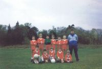 Circa 1985 - Kyleakin Junior Football Team Back row left to right: George Clouston, Iain MacIntosh, Harry Saunders, Steven Adams, Hamish Grant, Shaw Wilson, John MacLeod (Spod - in blue) Front row, kneeling left to right:  Ruaridh MacDougall, Keith MacKenzie, Dale Robertson, Michael Taylor and Darren Gough